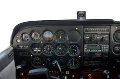 Cockpit van licht vliegtuig. Stock Foto's