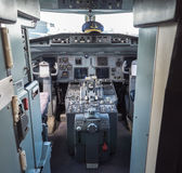 Cockpit of a vintage airliner Royalty Free Stock Image