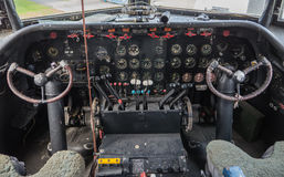 Cockpit of a vintage plane Stock Photography