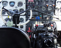 Cockpit. Of a vintage WWII bomber Royalty Free Stock Photos