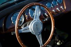 Cockpit von Morgan, Lenkrad stockfotos