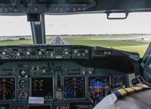 Cockpitbenadering Royalty-vrije Stock Afbeelding