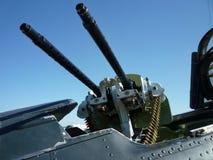 cockpiten guns maskinen Fotografering för Bildbyråer