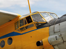 Cockpitflygplan Royaltyfri Bild