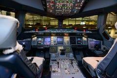 Cockpitinnenraum stockbild