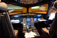 Cockpitinre för flygbuss A320 Arkivfoton