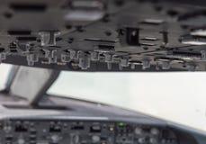 Cockpitinstrumente schließen oben Stockbild