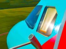 Cockpitvensters van vliegtuigen Stock Afbeeldingen