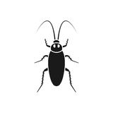 Cockroach black icon Stock Image