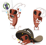 Cockroach cartoon illustrations Royalty Free Stock Images