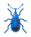 Cockroach dirty broun pest and disgusting roach crawling bug cartoon flat vector. Royalty Free Stock Photos