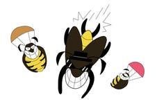 Cockroach jumping cartoon Stock Photography