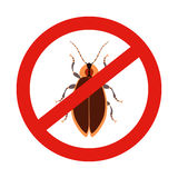 Cockroach prohibiting sign Royalty Free Stock Photography