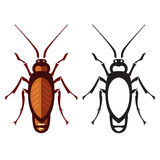 Cockroach in pure style Royalty Free Stock Images