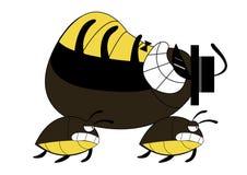 Cockroach run cartoon Stock Photo