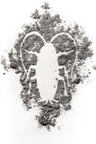 Cockroach silhouette drawing made in ash, dust, dirt, filth as f Royalty Free Stock Images