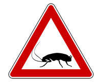 Cockroach warning sign Stock Photo