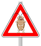 Cockroach warning sign  Royalty Free Stock Image