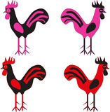 Cocks emotion monsters. Cocks for different emotions, strange and fun Stock Image