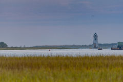 Cockspur Island Lighthouse Near Tybee Island royalty free stock image