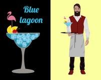 Cocktail barmen royalty free illustration
