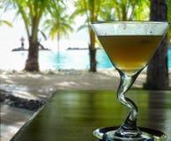 Cocktail à côté de la piscine Photographie stock