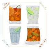cocktail illustration de vecteur
