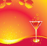 Cocktail. Martini glasses and cocktail background Stock Photo