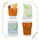 cocktail illustration stock