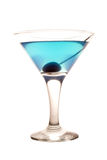 Cocktail. Blue  cold cocktail isolated on white background Royalty Free Stock Image
