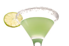 Cocktail. Green cocktail with lime isolated on white background Royalty Free Stock Photos