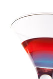Cocktail. With blue and red layers isolated on white background Stock Photos