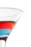 Cocktail. With blue and red layers isolated on white background Royalty Free Stock Photo