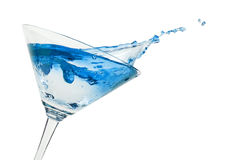 Cocktail. Martini glass. Isolated on a white stock photography
