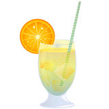 Cocktail. Refreshing orange cocktail, isolated object against white background Stock Photography