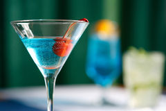 Cocktail. S of different colors and glasses alcoholic and nonalcoholic for a relaxation Royalty Free Stock Photo