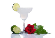 Cocktail. A decorated Marguerita over white background Stock Image