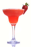 Cocktail. A cup of Strawberry Margarita over white background Stock Photo