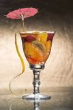 Cocktail. Assorted color cocktail with umbrella Royalty Free Stock Photography