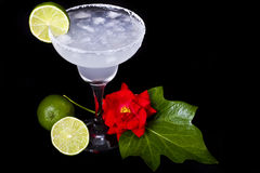 Cocktail. A decorated Margarita with lemon Stock Photo
