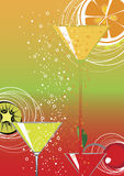 Cocktail illustration stock