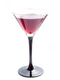 Cocktail. Red wine in a martini glass royalty free stock photos