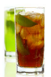Cocktail. Coctail with cola and lime Royalty Free Stock Photo