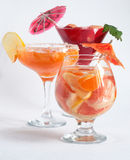 Cocktail. Fruit cocktail in a cafe or bar royalty free stock image