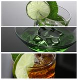 Cocktail absinthe with vodka in martini glass. Print print for skinned kitchen background interior bar products home furnishings trendy design black gray Stock Photo