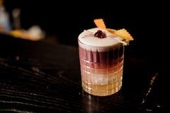 Cocktail acido di New York con schiuma Immagini Stock Libere da Diritti