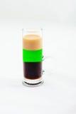 Cocktail affettato del colpo isolato su fondo bianco Fotografie Stock