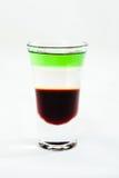 Cocktail affettato del colpo isolato su fondo bianco Fotografia Stock