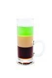 Cocktail affettato del colpo isolato su fondo bianco Fotografie Stock Libere da Diritti