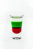Cocktail affettato del colpo isolato su fondo bianco Immagine Stock Libera da Diritti